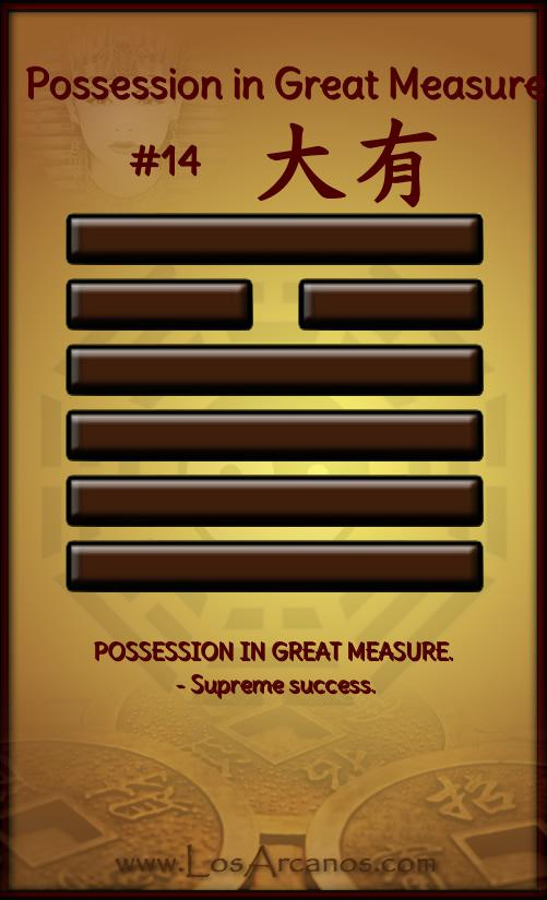 ichingPossession in Great Measure