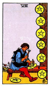 8 De Oros Significado De Las Cartas Del Tarot